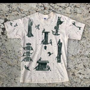 🌻🌻 Vintage 90s Bird feeder shirt